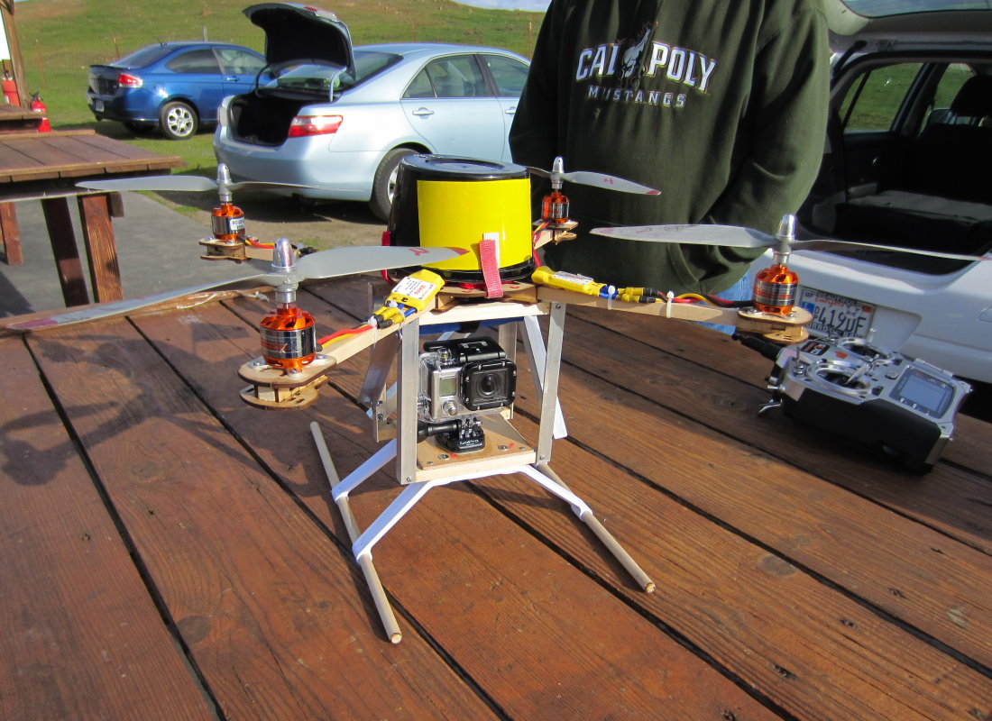 Pauls Quadcopter with GoPro 2 | SloFlyers RC Airplane Club