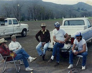 1989 Jack McCreery and Bob Pate on tail Gate